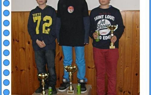 Vítězové Mistrovství žáků: Dan Bílý (1.), Jan Poštulka (2.) a Martin Ondruch (3.)